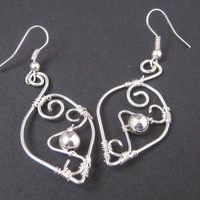 Wire wrapped fantasy earrings