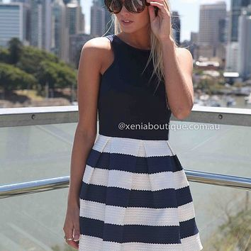 STRIPE SKIRT DRESS , DRESSES, TOPS, BOTTOMS, JACKETS & JUMPERS, ACCESSORIES, 50% OFF SALE, PRE ORDER, NEW ARRIVALS, PLAYSUIT, GIFT VOUCHER, Australia, Queensland, Brisbane