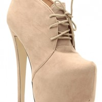 Taupe Faux Suede Lace Up Sky High Platform Booties @ Cicihot. Booties spell style, so if you want to show what you're made of, pick up a pair. Have fun experimenting with all we have to offer!