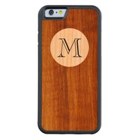 personalized M initial letter on wood
