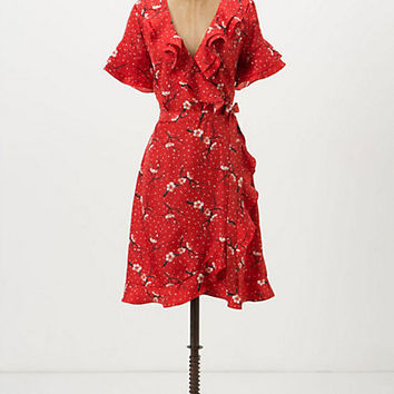 Sakura Dot Wrap Dress