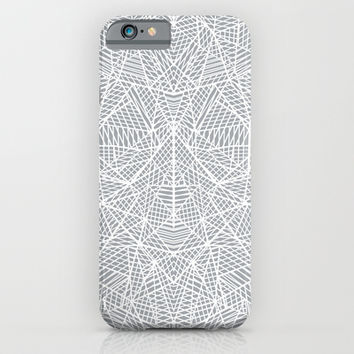 Abstract Lace on Grey iPhone & iPod Case by Project M | Society6