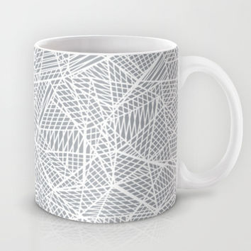 Abstract Lace on Grey Mug by Project M | Society6