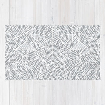 Abstract Lace on Grey Area & Throw Rug by Project M | Society6