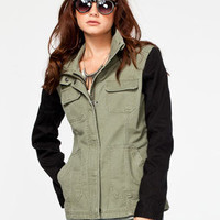 Fox Spark Womens Military Jacket Olive  In Sizes