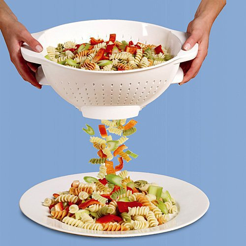 Trap Door Colander