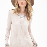 Lace-Front Top