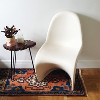 Vintage Verner Panton Classic Panton Chair in Off White . Mid Century Modern . Computer Chair . Desk Chair . Accent Chair - LOCAL ONLY