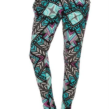 Colorful Abstract Geo Harem Pants