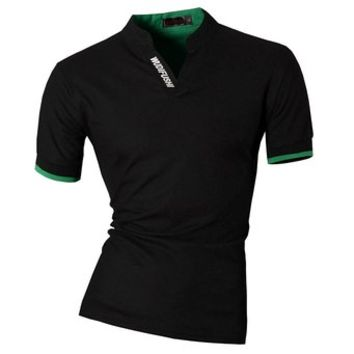 Jeansian Mens Dress Casual Slim Fit Short Sleeve Polo T-Shirts