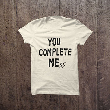IGO - 047 You complete me ss tshirt trendy Tshirt Cotton Blend Fashion T-Shirt