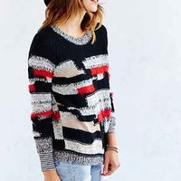 Ecote Patchwork Yarn Pullover Sweater - Urban Outfitters