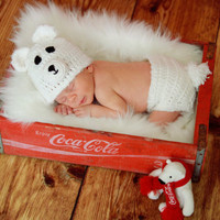 Toddler Newborn Polar Bear Hat