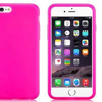 Shell Plastic with Rubber Case for iPhone 6