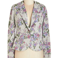 ModCloth Short Long Sleeve Artistic Advisor Blazer