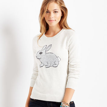 Aeropostale Bunny Sweater - Cream,