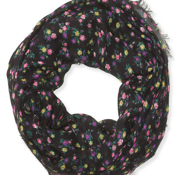 Aeropostale Ditsy Floral Infinity Scarf - Black, One