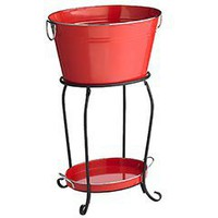 Pier 1 Imports - Product Details - Red Metal Beverage Tub