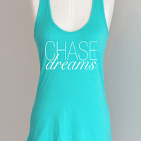 Chase Dreams Eco Friendly Pima Modal Racerback Tank in Teal