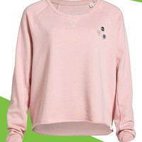 Loomstate Raw Edge Organic Cotton Sweatshirt (Women) (Nordstrom Exclusive)