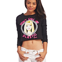 Barbie™ Don't Call Me Plastic Sweatshirt | Wet Seal