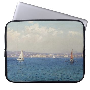 Sailing Sea Art Blue Laptop Sleeve