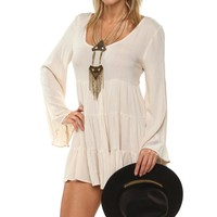 Natural Enchanting Ruffle Tunic