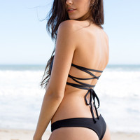 The Girl and The Water - L*Space Swim - Itsy Bottom / Black