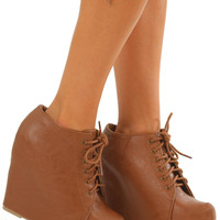When I'm Not With You Booties: Cognac