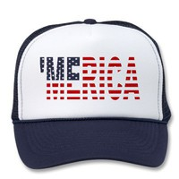 &#x27;Merica US Flag Hat from Zazzle.com