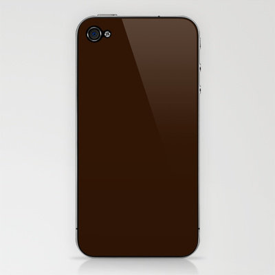 Dark Chocolate iPhone & iPod Skin by Color Project | Society6