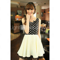[US$ 19.99] Elegant Dots Ladies' Swing Dress