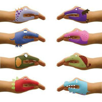 Dinosaur Hands Temporary Tattoos for Talking Hands - Whimsical & Unique Gift Ideas for the Coolest Gift Givers