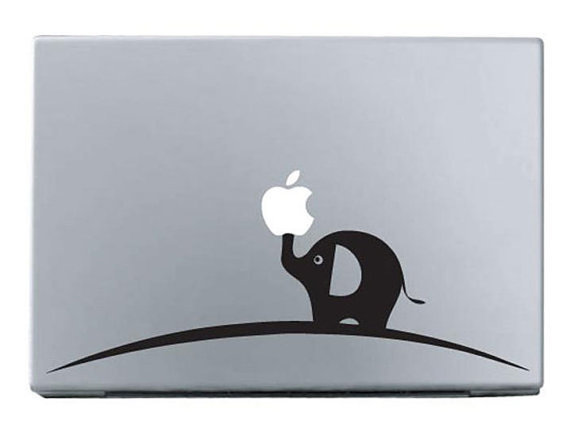 Elephant----Mac decal Macbook Decals Macbook Stickers Macbook Pro decals Macbook Air decals Vinyl decal for Apple Mac iPad iPhone