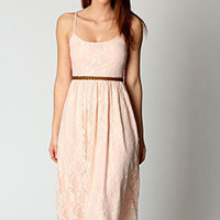 Lola Strappy Lace Midi Dress