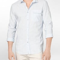 body slim fit seersucker casual shirt