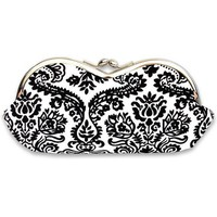 Black and White Mini Damask Frame Glass Case