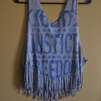 Liberty, Justice, Freedom Fringe tank