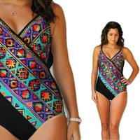 Vintage Swimsuit -- Retro Swim -- Vintage Aztec Tribal Swimsuit by Catalina -- Vintage Bathing Suit -- Spring Fashion -- Summer Fashion