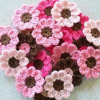 Handmade Crochet Flowers, Appliques.. on Luulla