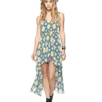 Sheer Southwest High-Low Dress