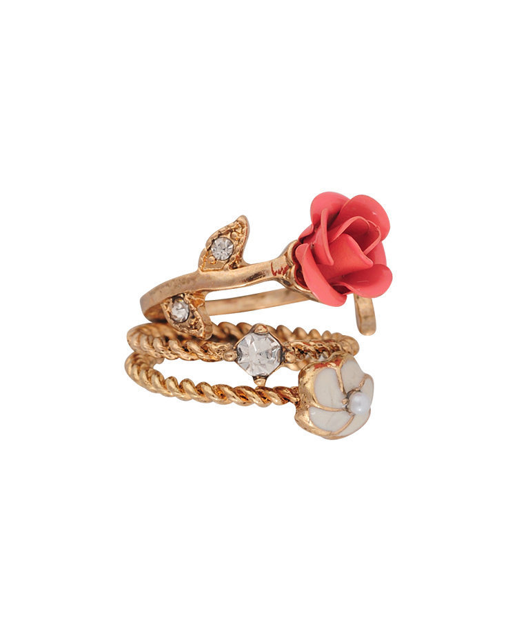 Enchanted Rose Ring Set