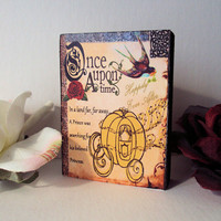 Enchanting Once Upon A Time Art Block for Wedding Gift or Home Decor