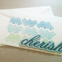 Cherish Card Blue and Green