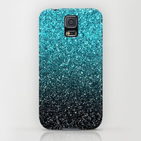 Samsung Galaxy S5 Galaxy S4 iPhone 6 iPhone 6 Plus iPhone 5 iphone 5s iphone 5c iphone 4 iphone 4s iPhone 3 Phone Case. Blue Ombre Glitter