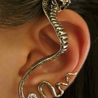 Bronze Cobra Ear Wrap