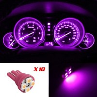 Partsam 10x Pink Purple T10 4-SMD LED Wedge Gauge Cluster Intrusment Speedo Light Bulbs:Amazon:Automotive