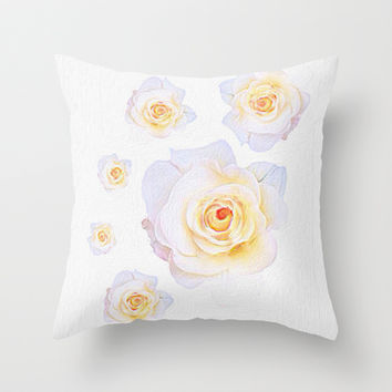 Roses Throw Pillow by llaurenrachell | Society6