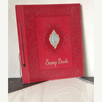 Vintage Ephemera Scrapbook/Photoalbum, full of unused pages and an extra pack of pages