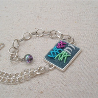 Modern design embroidery bracelet fun art jewelry for summer